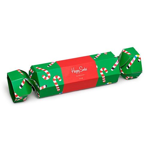Happy Socks Набор из 2-x пар носков - Christmas Cracker Gift Box - Green/Red