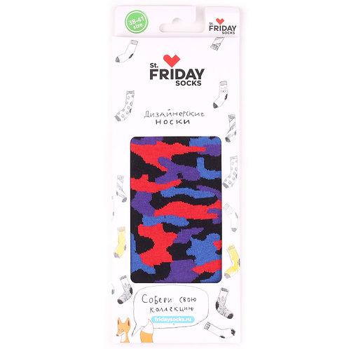 St.Friday Socks - Army Black в подарочной упаковке