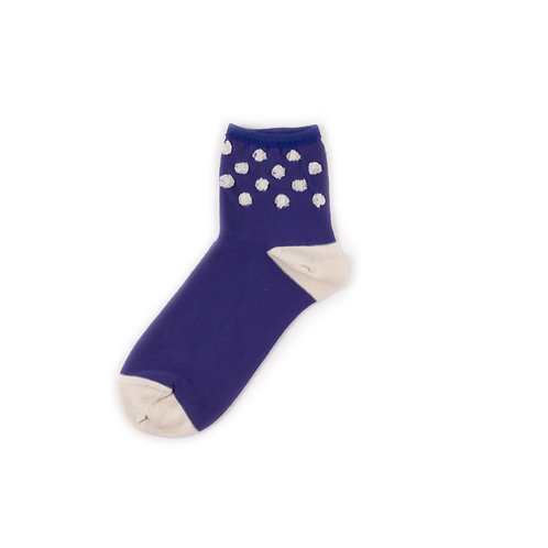 Hansel from Basel Puff Cb Anklet Royal Blue/Ivory