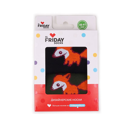 St.Friday Socks 2 Pair Pack - Foxy