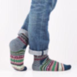 Chup Kihnu Blue Socks at Sock Club Moscow