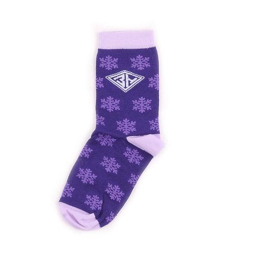 Zaporojec Socks - Snowflake Violet