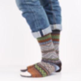 Chup Mits Grey Socks at Sock Club Moscow