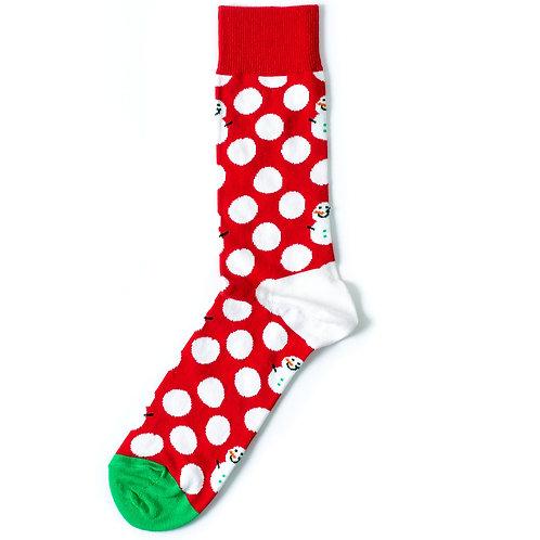 Happy Socks Big Dot - Snowman