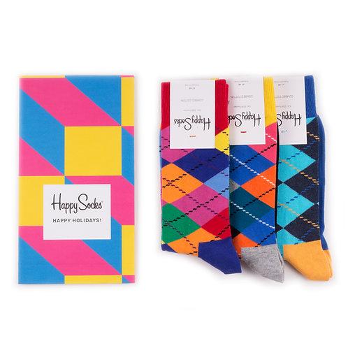 Happy Socks Набор из 3-х пар носков - Argyle