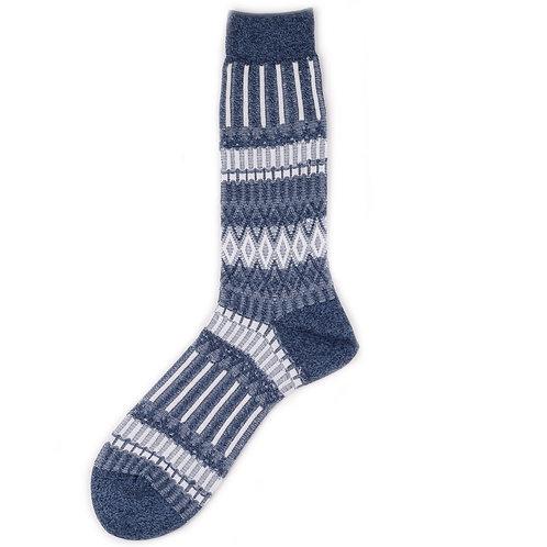 Ayame Socks - Basket Lunch - Blue