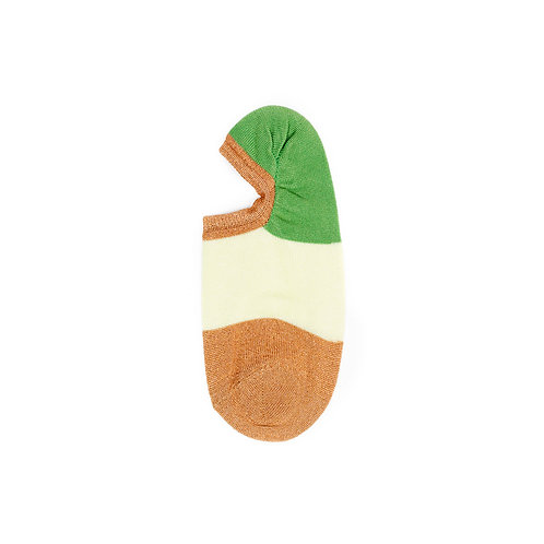Hysteria Isa Invisible Sneaker Sock - Brown/Green