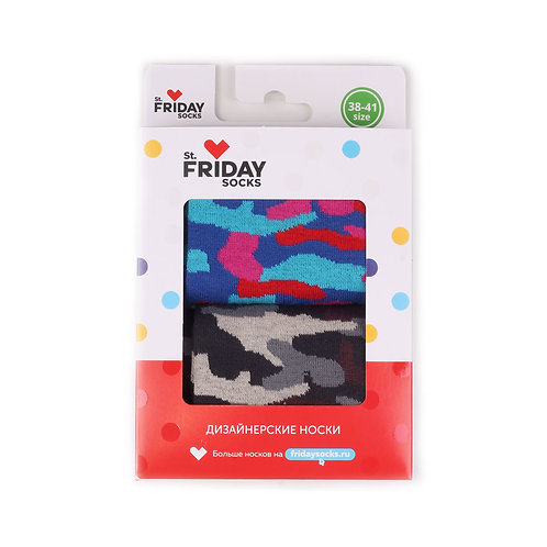 St.Friday Socks 2 Pair Pack - Army