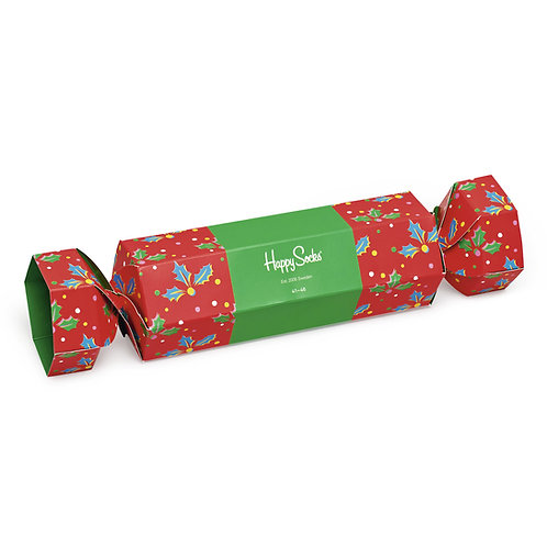 Happy Socks Набор из 2-x пар носков - Christmas Cracker Gift Box - Red/Green