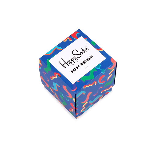 Happy Socks 3 Pair Gift Cube Box - Happy Birthday