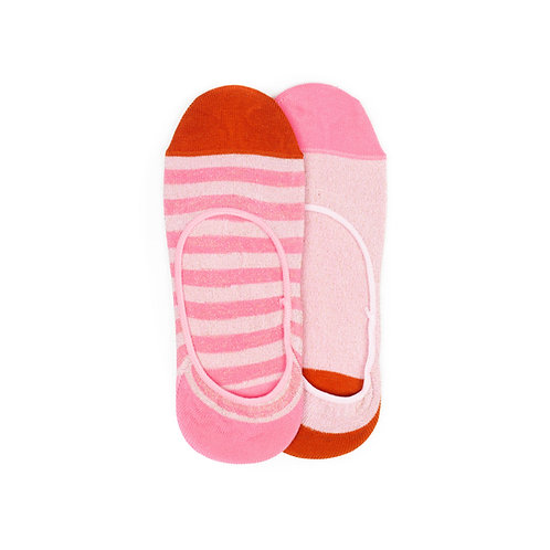 Hysteria 2 Pair Pack No Show - Claudia - Pink
