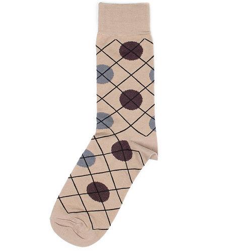 St.Friday Socks - Casual - Dot - Brown