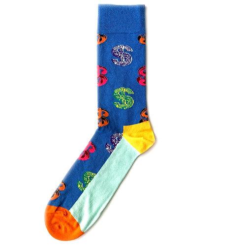 Happy Socks x Andy Warhol - Dollar Sign - Blue