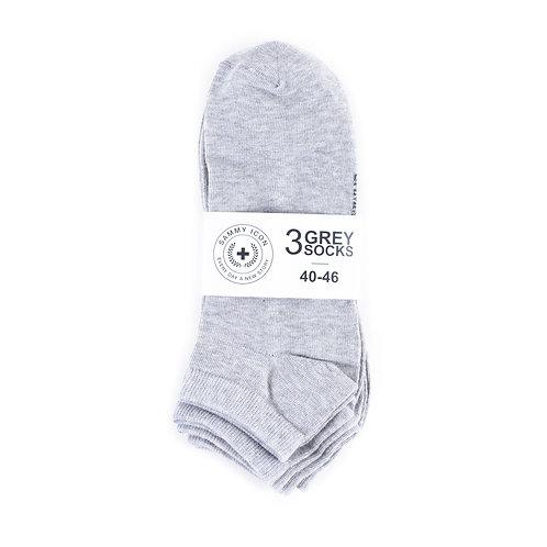 Комплект носков Sammy Icon Ankle Solid - 3 Pair Set - Grey