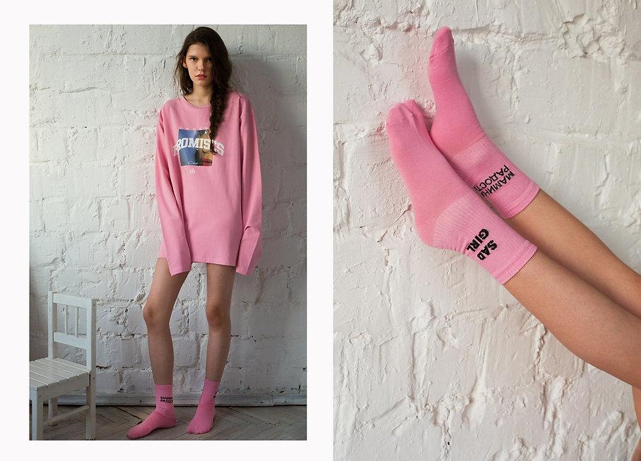 Носк суперсокс SAD GIRL и носочки мамина радость