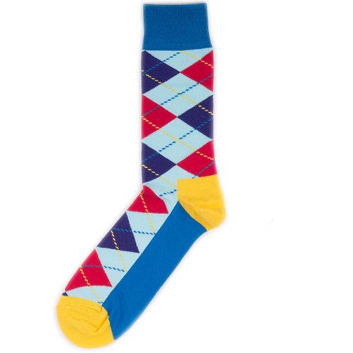 Happy Socks Argyle - Blue/Yellow