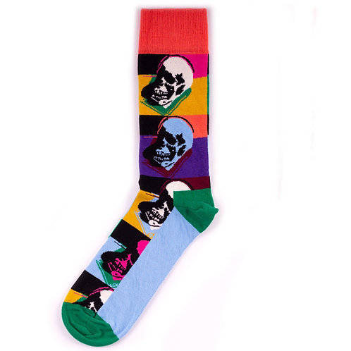 Happy Socks x Andy Warhol - Skull - Blue