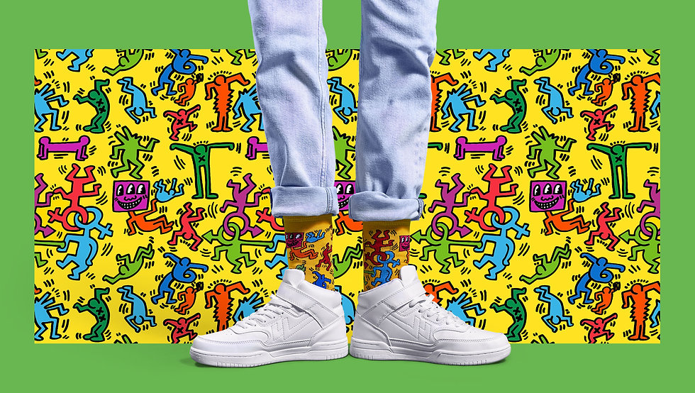 Коллекция носков Happy Socks x Keith Haring