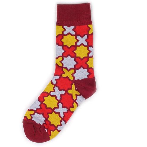 St.Friday Socks - Cross - Red