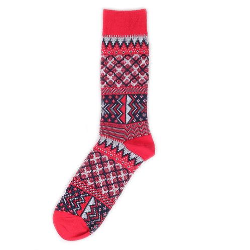 Yarn Works Socks - Work #9 - Red