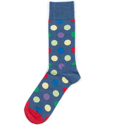 Happy Socks Wool - Big Dot - Blue