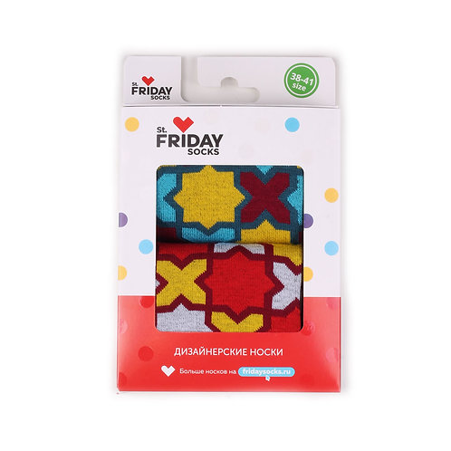 St.Friday Socks 2 Pair Pack - Cross