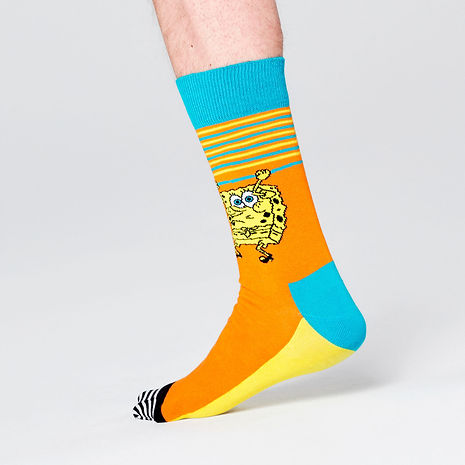Happy-Socks-x-SpongeBob-Let's-Work-It-Ou