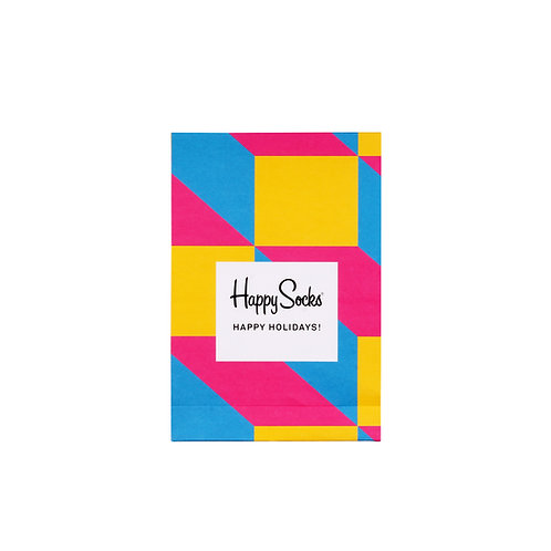 Happy Socks Paper Gift Bag - Color Blocks