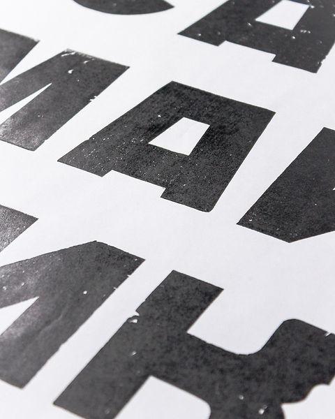 Постер ручной печати