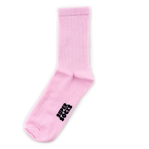 SUPER SOCKS Solid - Pink