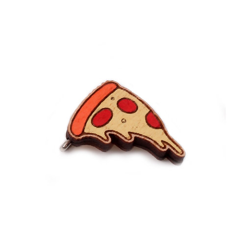 SUPER STUFF Деревянный значок - Пицца