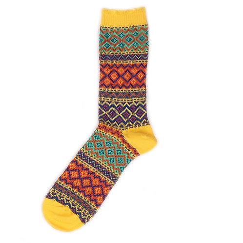 Yarn Works Socks - Work #7 - Yellow