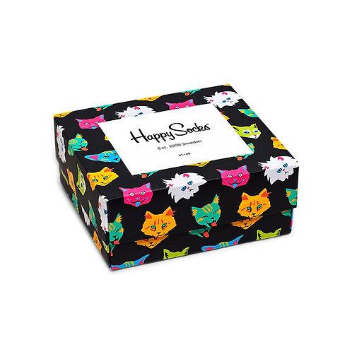 Happy Socks Набор из 2-х пар носков - 2-Pack Cat Lover Gift Set - Multicolor