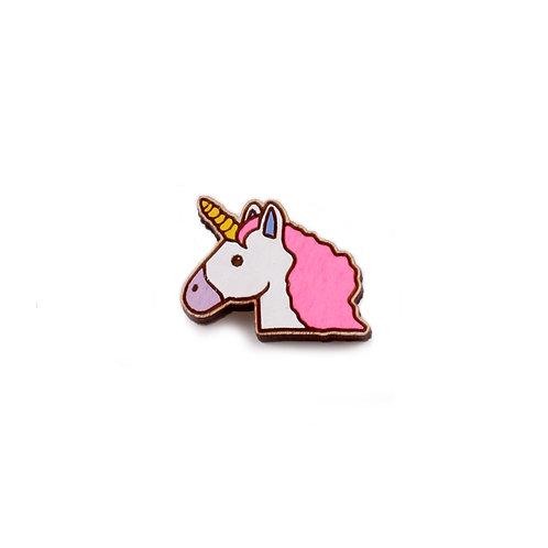 SUPER STUFF Деревянный значок - Unicorn