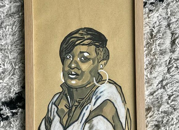 """FRAMED CUSTOM SKETCH ART: RHAPSODY (21X30 CM/ 9""""X12"""" INCH)"""