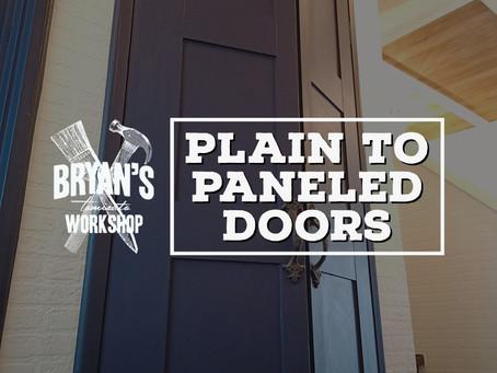 Plain to paneled doors