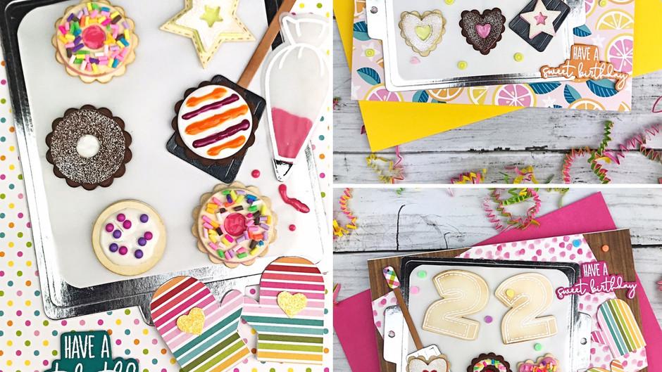 Yummy Die Cut Birthday Cards Making Faux treats