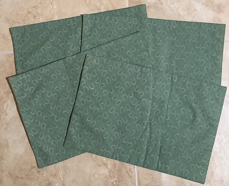 Small green paisley print - set of 4 placemats