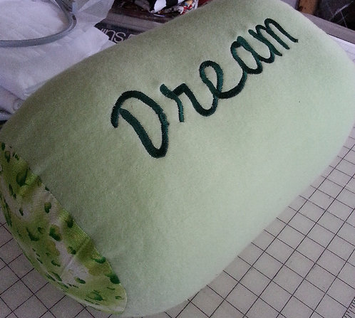 """Dream"" bolster pillow"