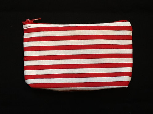 Red and white striped 'whatever' bag