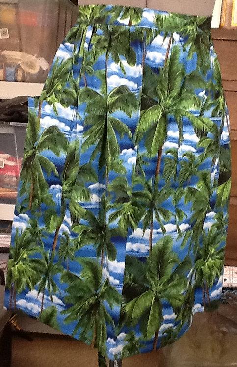 Palm tree half apron