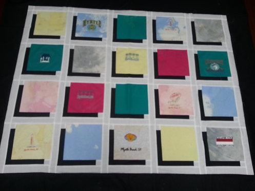 """Myrtle Beach"" T-shirt quilt"