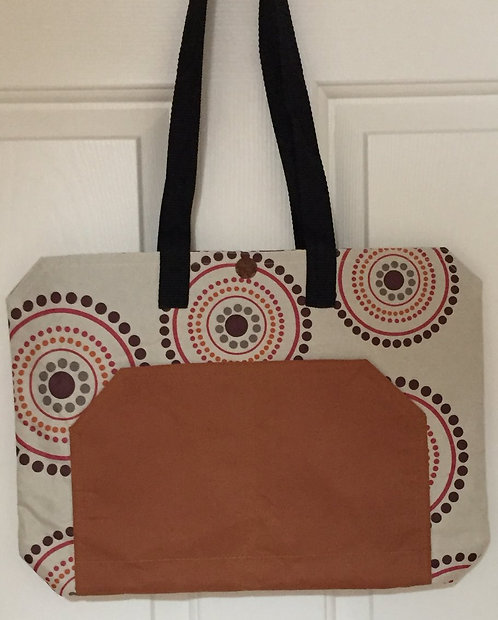 Circles and rust tote