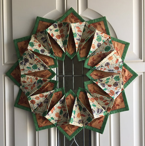 'Fold 'n Stitch' Fall wreath or wall hanging