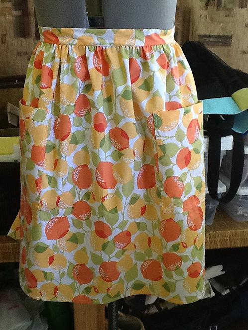 Oranges and peaches - half apron