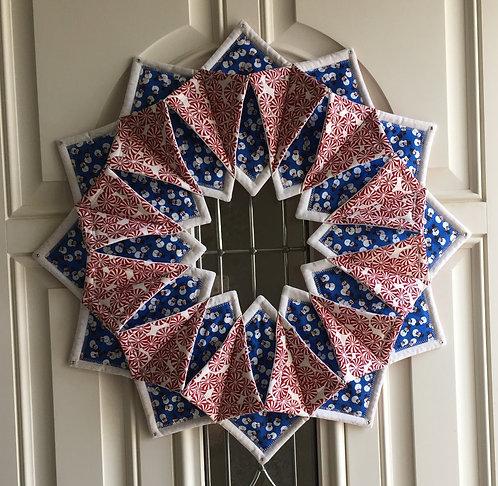 Fold 'n Stitch' Cinnamon Candy wreath/wall hanging