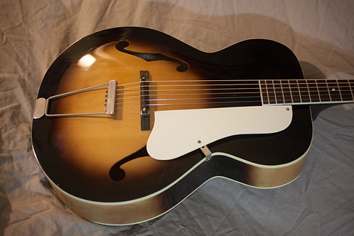 Vintage Kay P4 Archtop New Frets, Bone Nut, Low Setup, W/ CASE