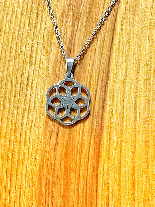 Silver Celtic Circle Necklace