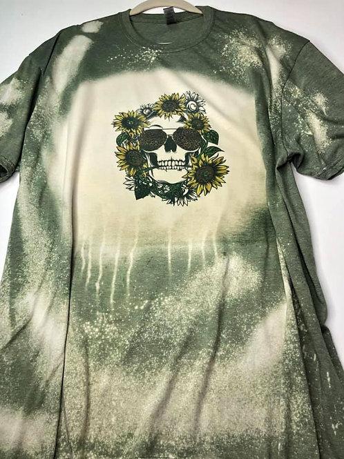 Sunflowers & Skull