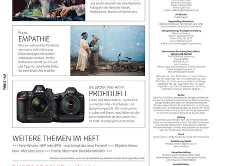 Mehrseitiger Artikel in der PHOTOGRAPHIE 9/2020!